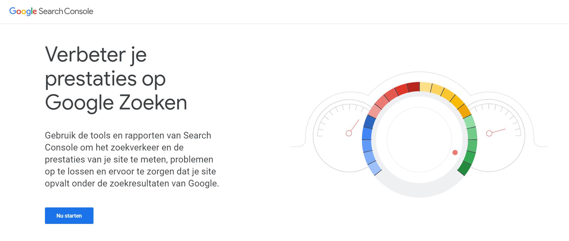 Website registreren bij Google search console