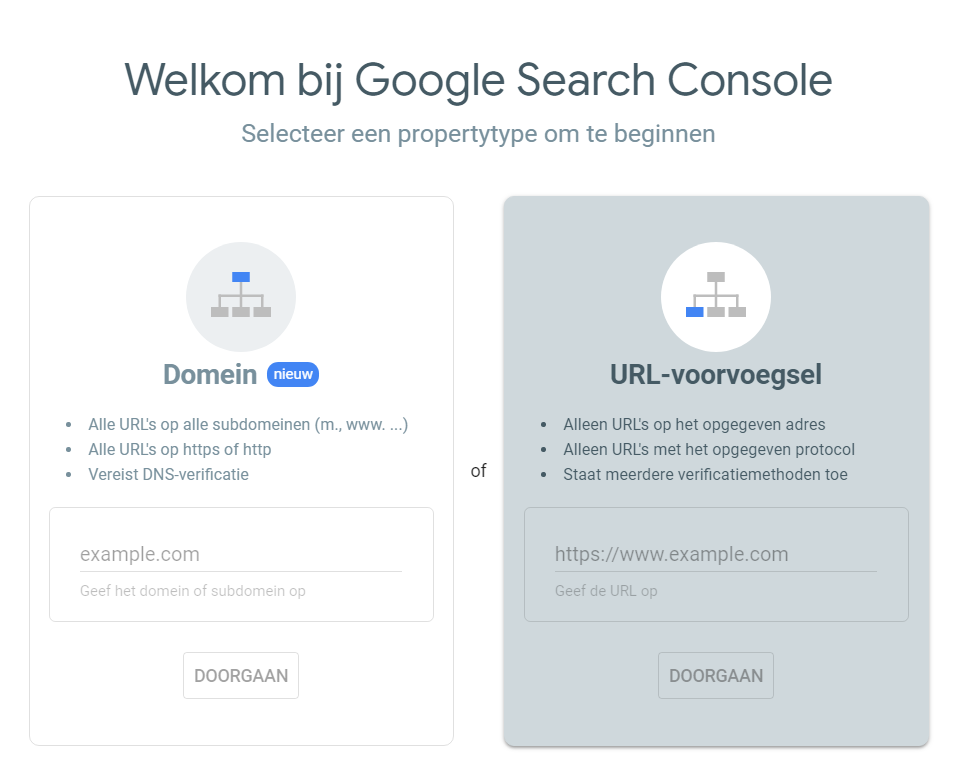 Je website aanmelden bij Google Search Console