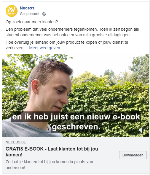 Online marketing - Adverteren in Facebook - Online adverteren - Necess