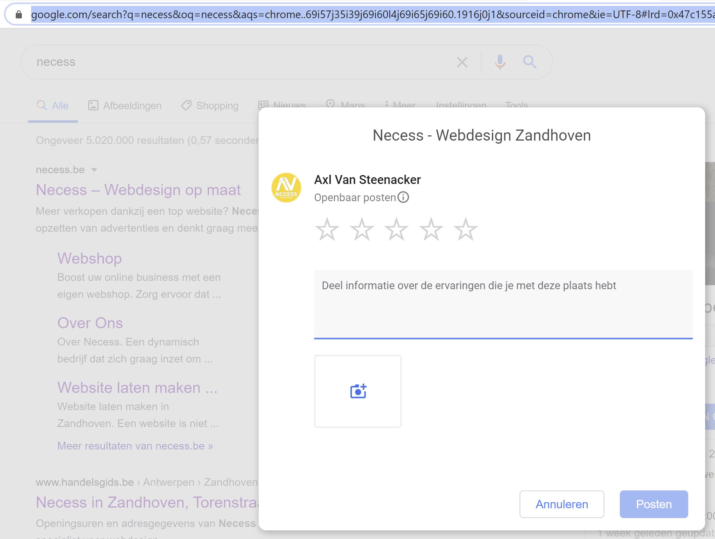 Rechtstreekse link naar je Google mijn bedrijf reviews