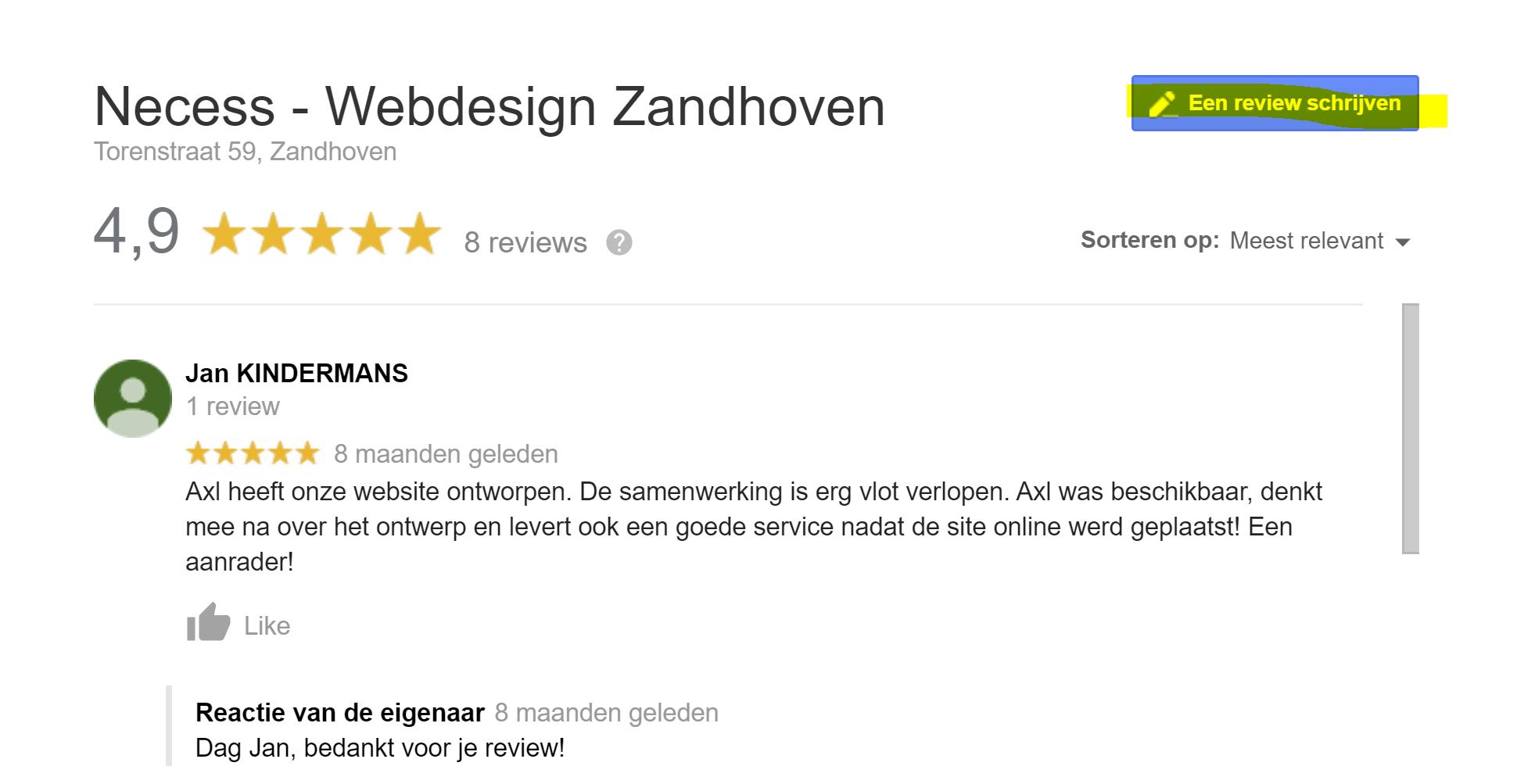 Reviews vragen aan je klant in Google Mijn Bedrijf