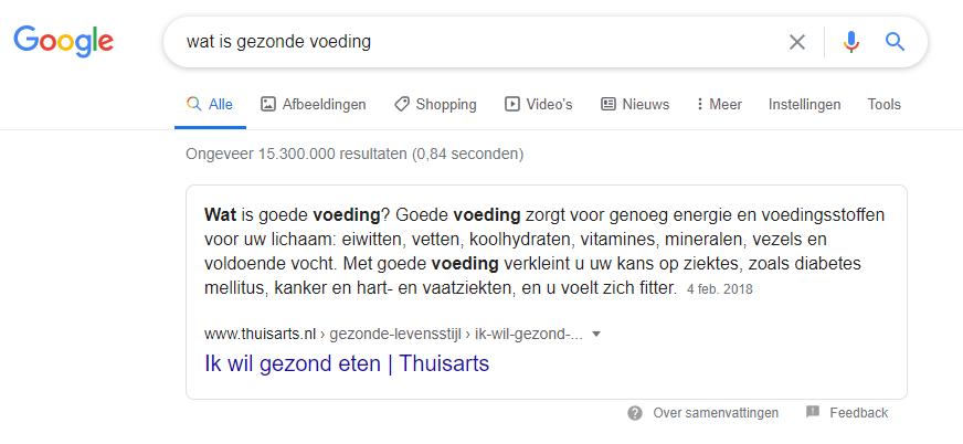 Hoger in Google met de Definitie Featured Snippet